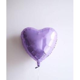 Шар фольгированный сердце сиреневое. 48 см. С гелием