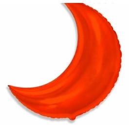 Шар фольгированный месяц красный. 89 см. С гелием