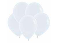 """Шар гелиевый белый (пастель) 30 см (12"""")"""