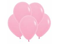 """Шар гелиевый розовый (пастель) 30 см (12"""")"""