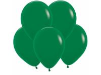 """Шар гелиевый пастель тёмно-зелёный 30 см (12"""")"""