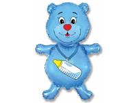 Шар Фольгированный Медвежонок-мальчик 94 см. С гелием