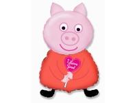 Шар Фольгированный Свинка Пеппа 81 см. С гелием