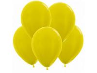 """Шар гелиевый Жёлтый (Металлик) 30 см (12"""")"""