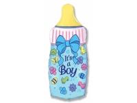 Шар Фольгированный Бутылочка для мальчика 79 см. С гелием