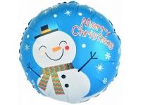 Шар Фольгированный Круг Счастливого Рождества 48 см. С гелием