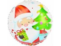 Шар Фольгированный Круг Дед Мороз 48 см. С гелием