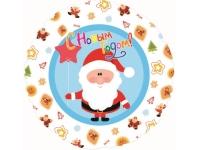 Шар Фольгированный Круг Санта С Новым Годом 48 см. С гелием