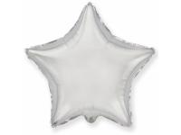 Шар Фольгированный Звезда Серебро 48 см. С гелием