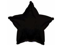 """Шар фольгированный """"Звезда""""(чёрный) 48 см. С гелием"""