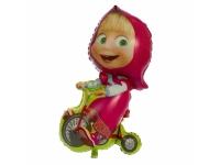 Шар Фольгированный Маша на велосипеде 100 см. С гелием