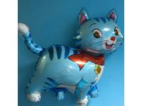 Шар Фольгированный Мой милый котёнок (голубой) 81 см. С гелием