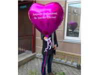 Сердце фольгированное 78 см с индивидуальной ндписью