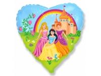Шар Фольгированный Принцессы 48 см. С гелием