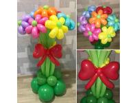 Букет из 7 цветков на подставке