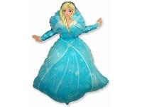 Шар Фольгированный Снежная королева 98 см. С гелием