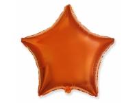 """Шар фольгированный """"Звезда""""(оранжевый) 48 см. С гелием"""