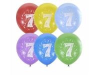 """Шар гелиевый """"С Днём рождения. 7 лет"""" 2 ст."""