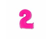 """Шар фольгированный """"Цифра 2"""" ярко-розовая 102 см. С гелием"""