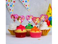 """Набор свечей в торт """"Принцессы"""", 5 шт."""