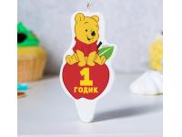 """Свеча в торт """"Винни Пух. 1 годик"""""""