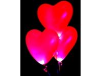 Светящееся облако из 20 шаров-сердечек