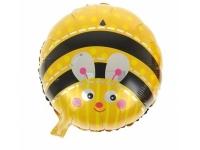 Шар Фольгированный Круг Пчёлка 48 см. С гелием