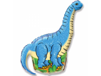 """Шар фольгированный """"Динозавр. Диплодок"""" 109 см. С гелием"""