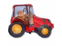 """Шар фольгированный """"Трактор (красный)"""" 94 см. С гелием"""