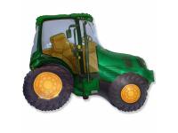 """Шар фольгированный """"Трактор (зелёный)"""" 94 см. С гелием"""