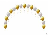 Арка из гелиевых шаров. Оформление свадебного зала