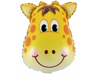 Шар Фольгированный Голова жирафа 61 см. С гелием