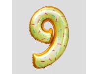 """Шар фольгированный """"Пончик. Цифра 9"""" 86 см. С гелием"""