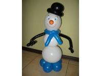 Снеговик из шаров