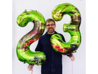 "Цифры ""23 февраля"", 102 см. С гелием"