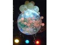Большой свадебный шар-сюрприз. Оформление свадебного зала