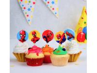 """Набор свечей в торт """"Человек-паук"""", 5 шт."""