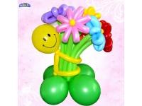 Букет Смайлик с цветами