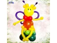 Фигуры из шаров. Пчелка