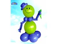 Фигуры из шаров. Смайлик в шляпе