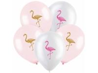 """Шар гелиевый """"Фламинго №2"""", 12""""(30 см), пастель и кристал"""