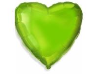 Шар фольгированный сердце лайм. 48 см. С гелием