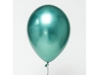 "Шар гелиевый зелёный (хром) 30 см (12"")"