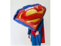 """Шар фольгированный """"Эмблема Супермена"""" 66 см. С гелием"""