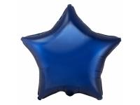 Шар фольгированный звезда тёмно-синяя. 48 см. С гелием