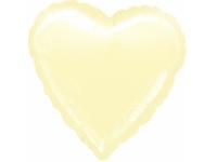 Шар фольгированный сердце айвори. 48 см. С гелием