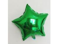 Шар фольгированный звезда зелёный. 48 см. С гелием