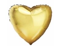 Шар фольгированный сердце античное золото. 48 см. С гелием