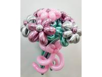 """Букет из шаров """"Розовый и серебро"""""""