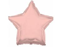 Шар фольгированный звезда розовое золото. 48 см. С гелием